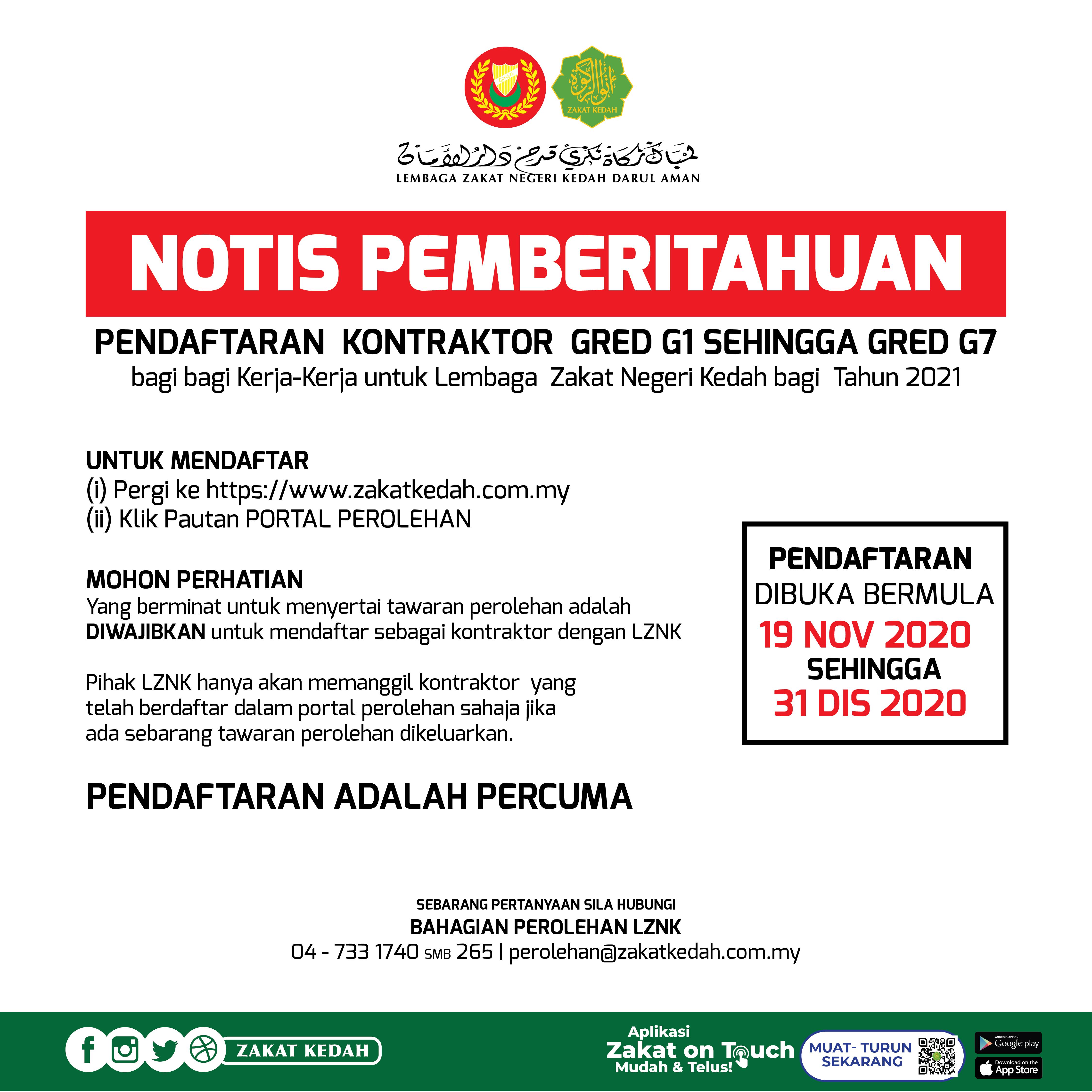 Lembaga Zakat Negeri Kedah Darul Aman Berzakat Membawa Berkat